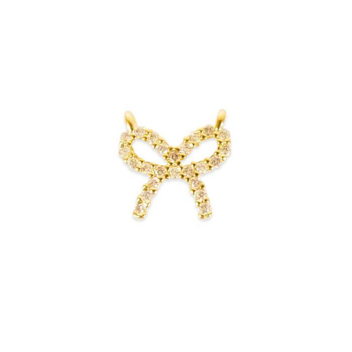 Pendentif serti noeud doré à l'or fin ou plaqué argent x1