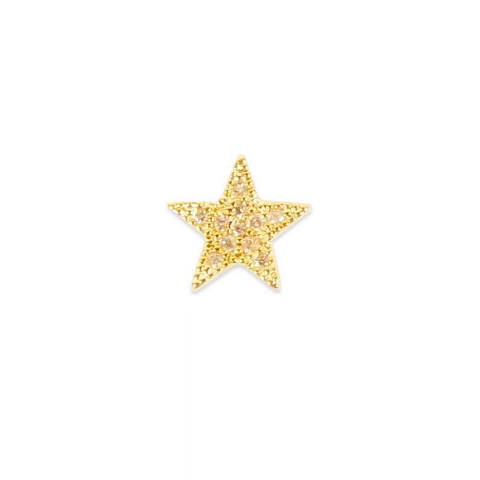 Pendentif serti étoile doré à l'or fin ou plaqué argent x1