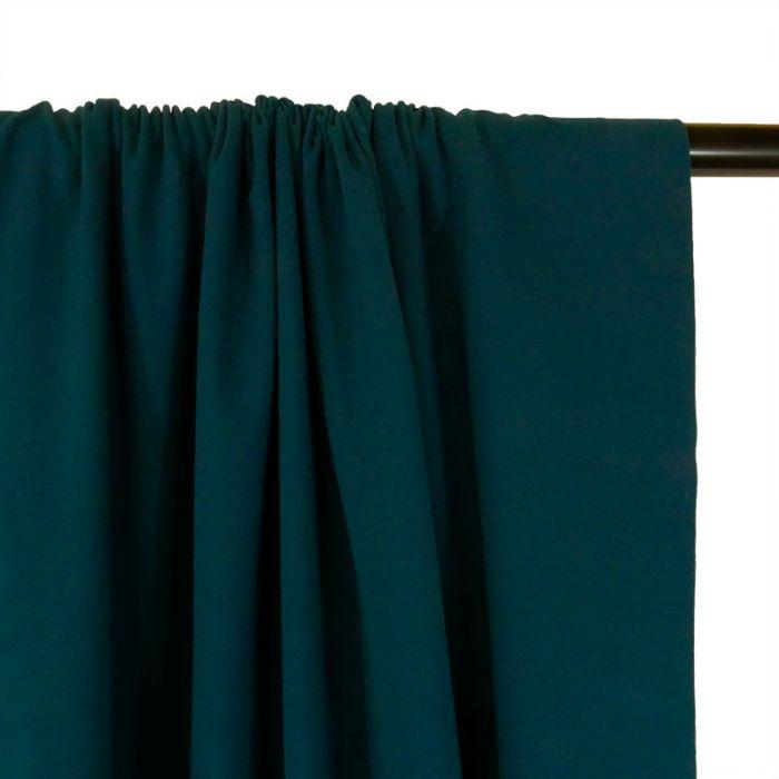 Tissu jersey coton uni - petrole x 10cm