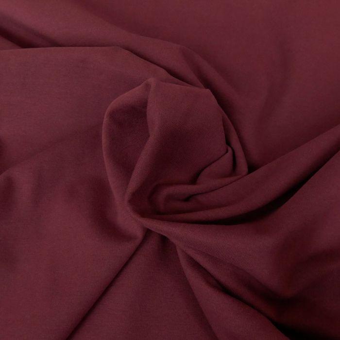 Tissu jersey coton uni aubergine x 10cm