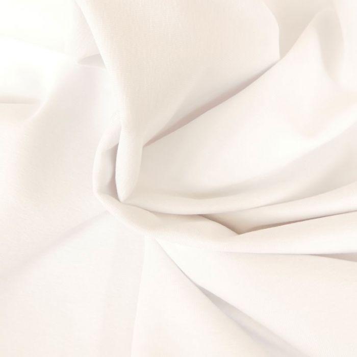 Tissu jersey coton uni blanc x 10cm