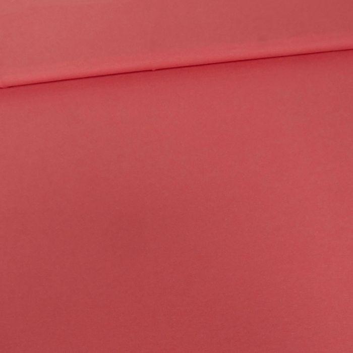 Tissu jersey coton uni corail x 10cm
