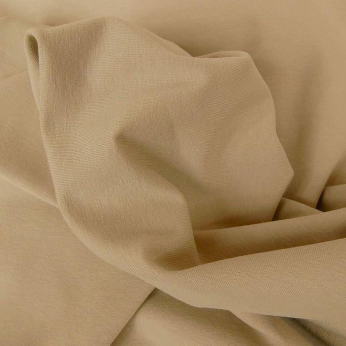 Tissu jersey coton uni sable x 10cm