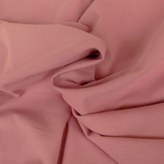 Tissu jersey coton uni vieux rose x 10cm