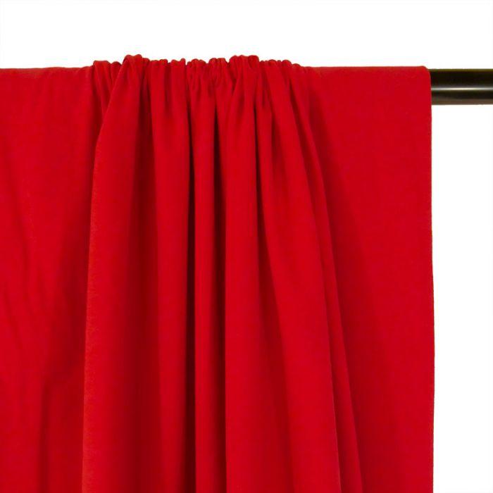 Tissu jersey coton uni rouge x 10cm