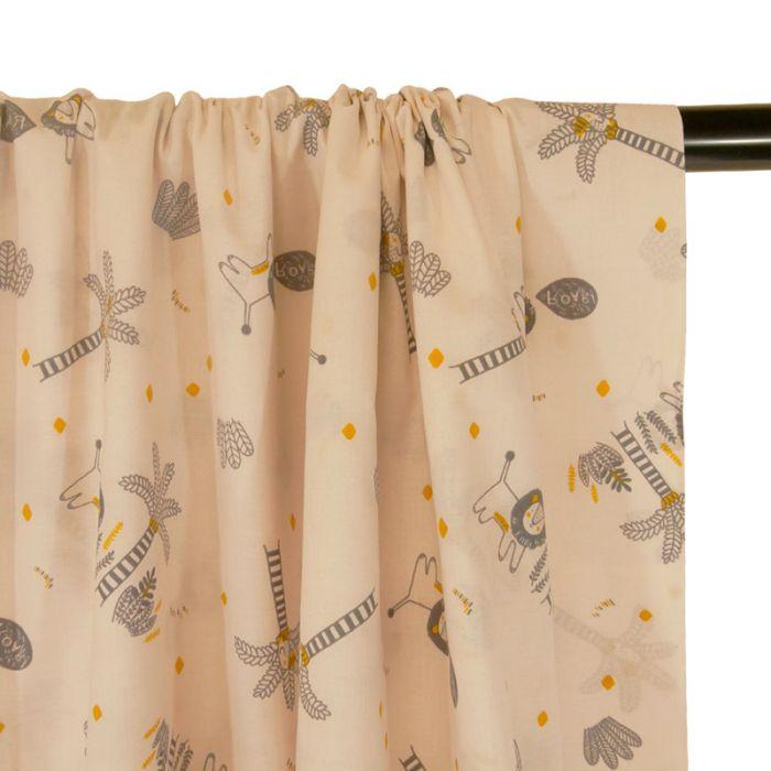 Tissu petit Froufrou savane - ivoire x 10 cm