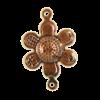 Breloque fleurs 16mm cuivre