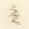 Breloque spirale 26mm argent