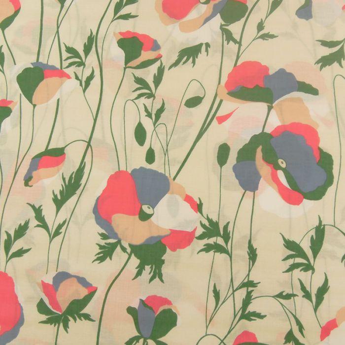 Tissu Blossom vertige Frou-Frou - neige x 10 cm