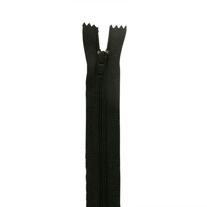 Fermeture à glissière polyester non séparable - Noir