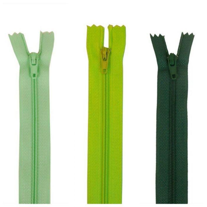 Fermeture à glissière polyester non séparable - vert