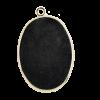 Breloque 29mm ovale avec rebord