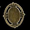 Breloque ovale avec motif 29mm bronze