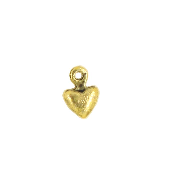 Breloque coeur 7mm dor