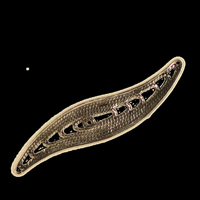 Breloque filigrane courbe 38mm cuivre x1