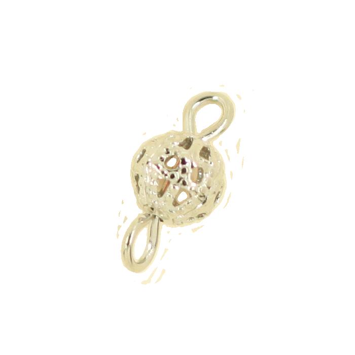 Breloque filigrane intercalaire boule 14mm argent