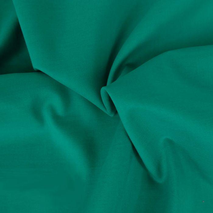 Tissu voile de coton uni vert émeraude
