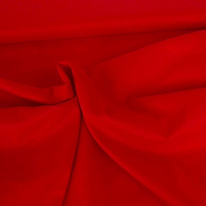 Tissu voile de coton uni rouge x 10 cm