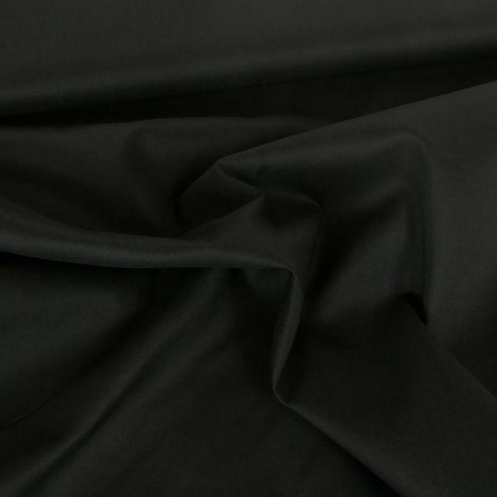 Tissu voile de coton uni noir x 10 cm