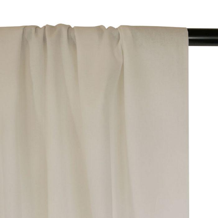 Tissu voile de coton uni écru