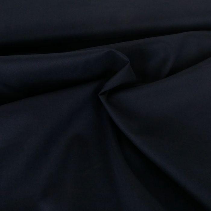 Tissu voile de coton uni bleu navy