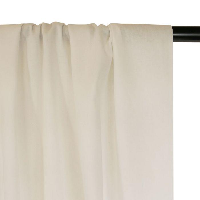 Tissu voile de coton uni blanc