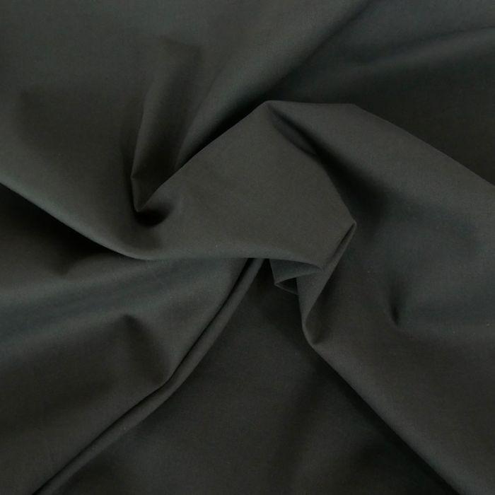 Tissu voile de coton uni gris foncé
