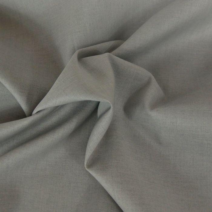 Tissu voile de coton uni gris silver