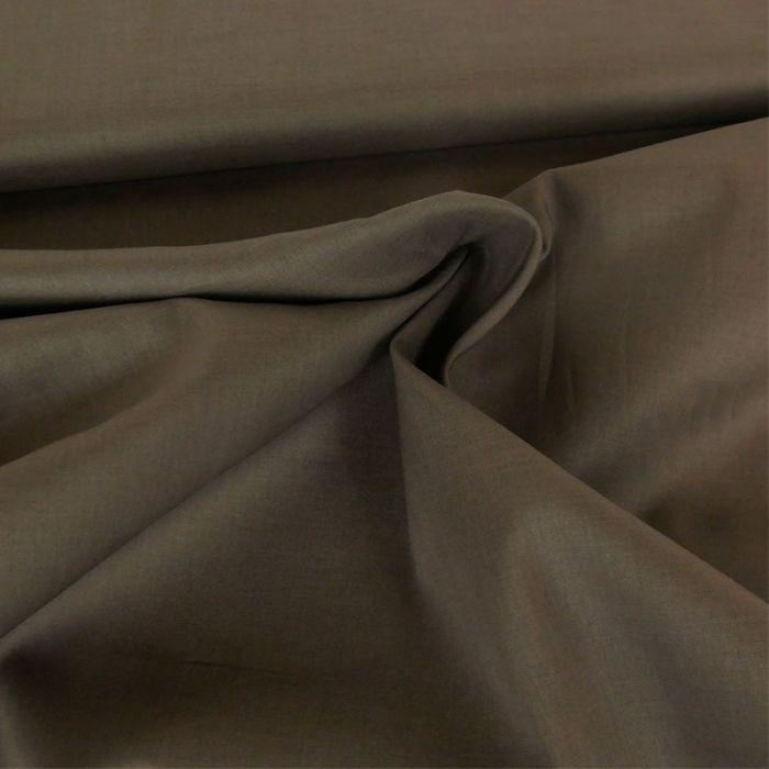 Tissu voile de coton uni taupe