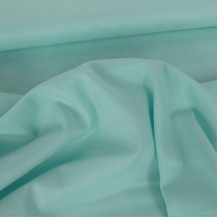 Tissu voile de coton uni mint