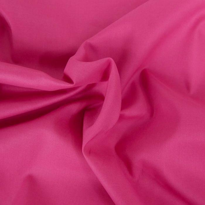 Tissu voile de coton uni rose fuchsia
