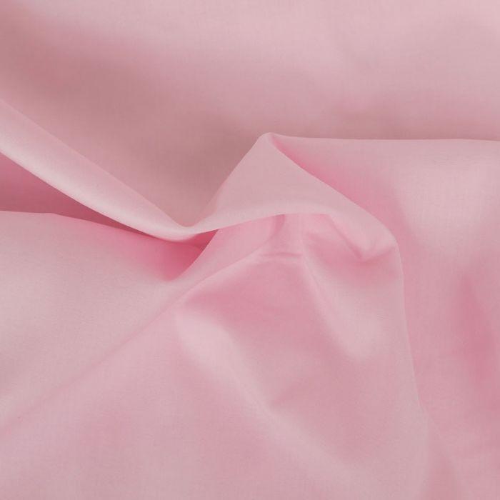 Tissu voile de coton uni rose