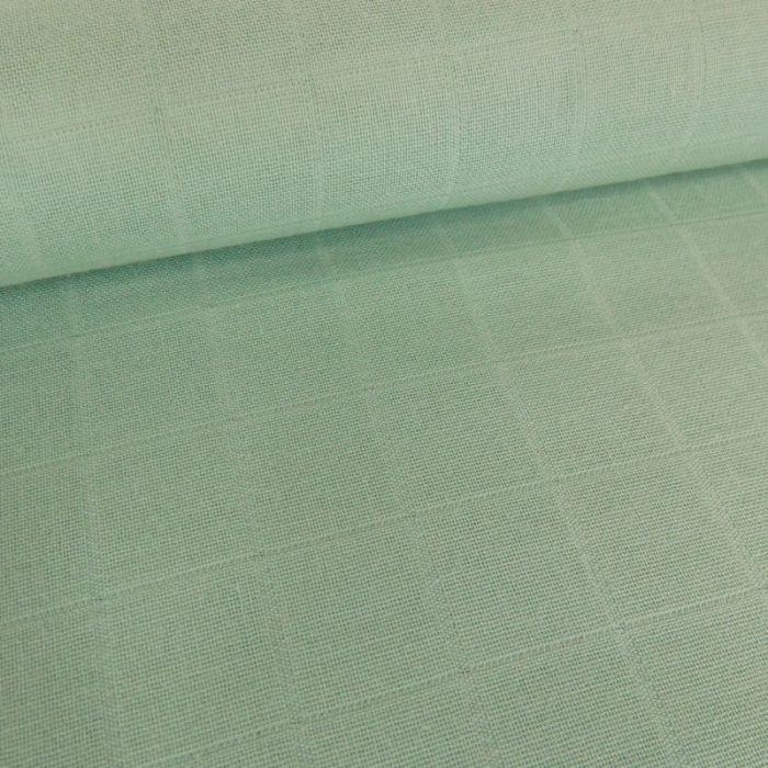 Tissu lange de coton - mint foncé x 10 cm