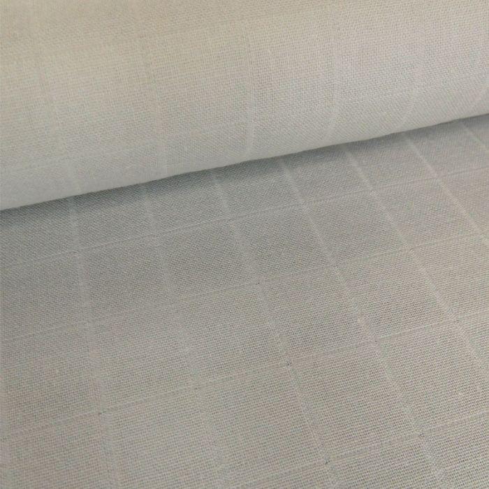 Tissu lange de coton - gris clair x 10 cm