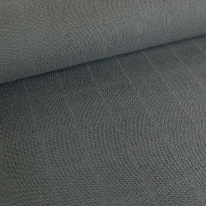 Tissu lange de coton - gris foncé x 10 cm