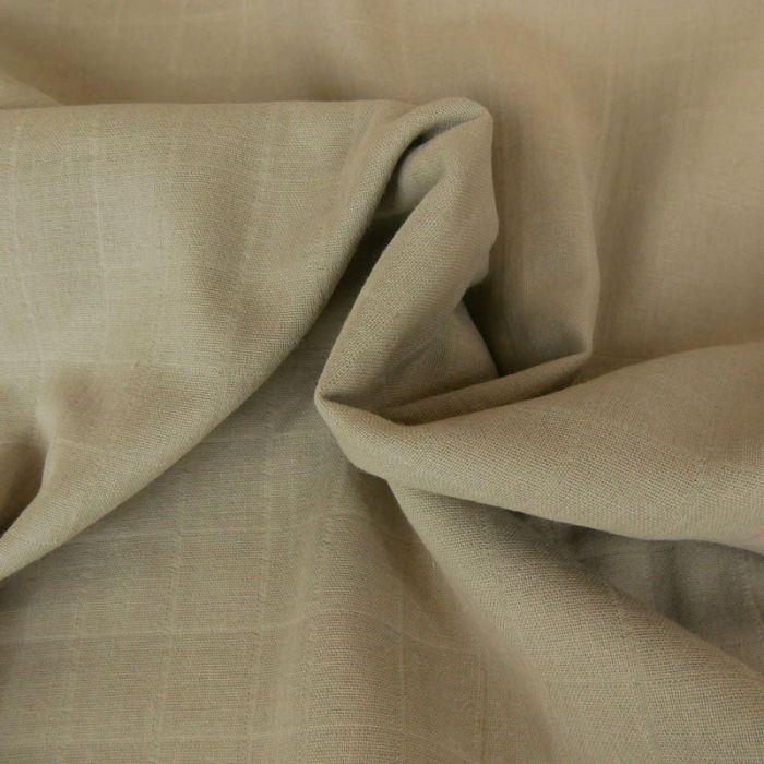 Tissu lange de coton - beige x 10 cm