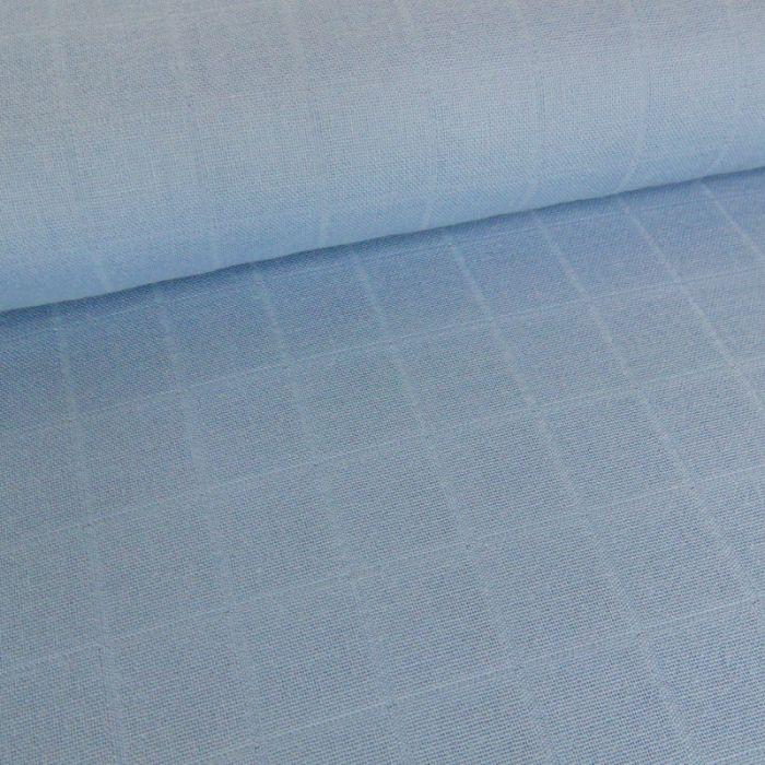 Tissu lange de coton - bleu x 10 cm