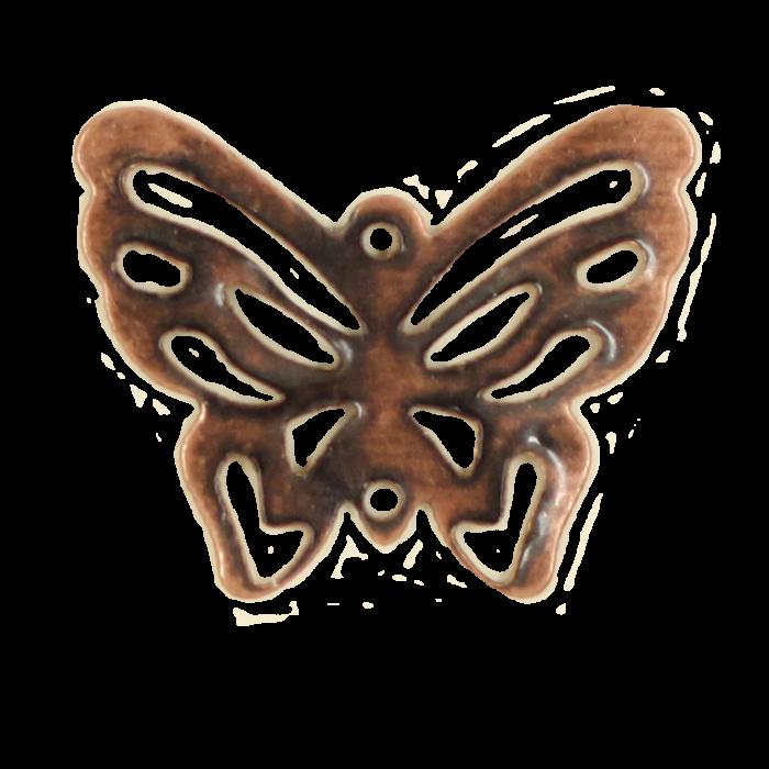 Breloque filigrane papillon 20mm cuivre