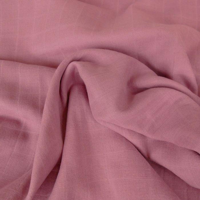 Tissu lange de coton vieux rose x 10 cm