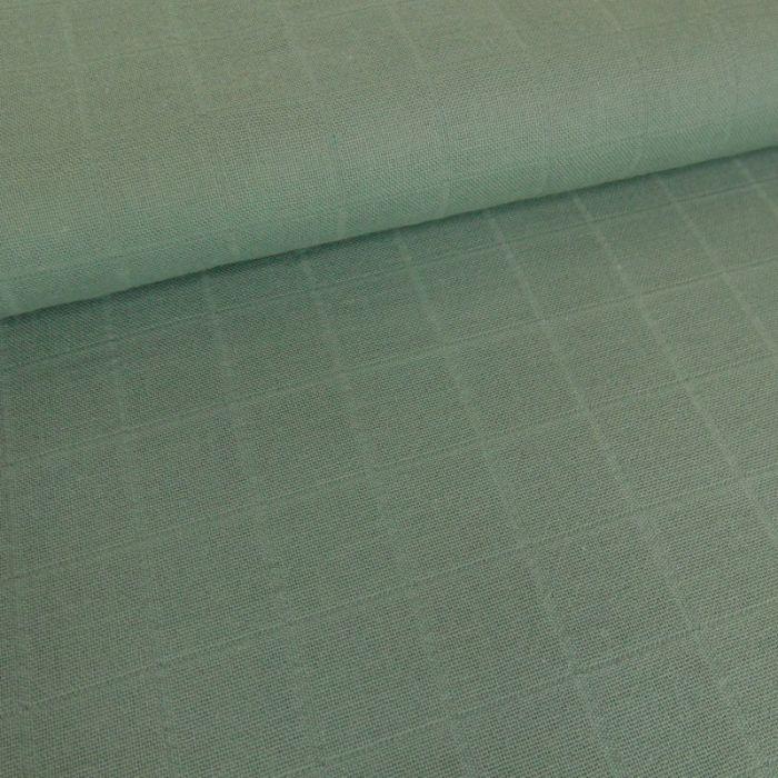 Tissu lange de coton vert x 10 cm