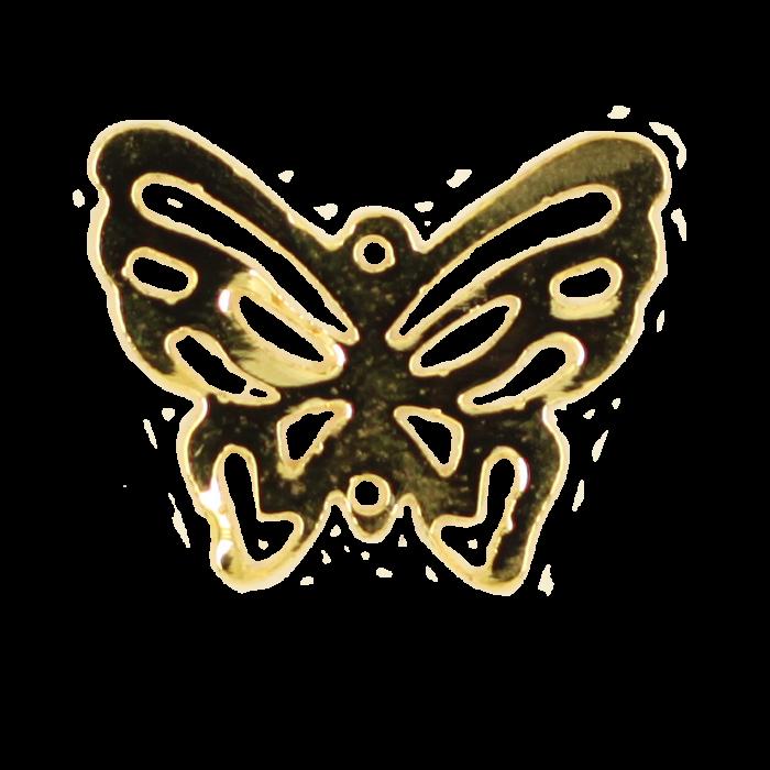 Breloque filigrane papillon 20mm doré x1