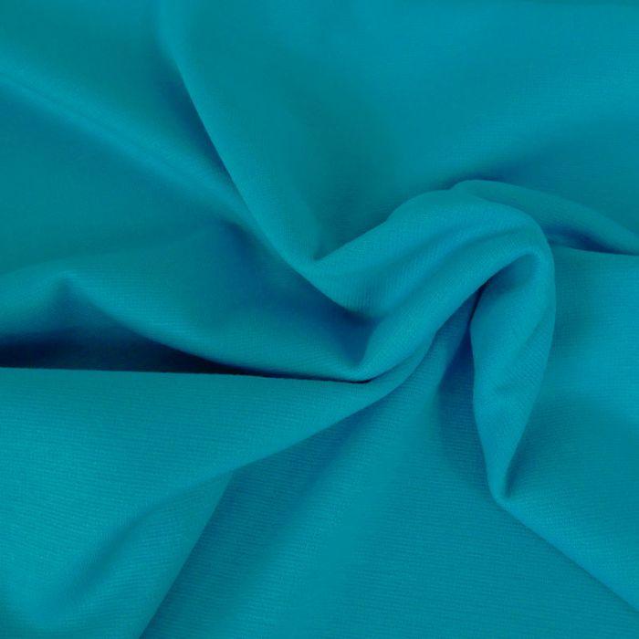 Tissu punto stretch - aqua x 10 cm