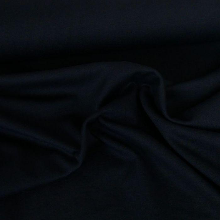 Tissu punto stretch - marine x 10 cm