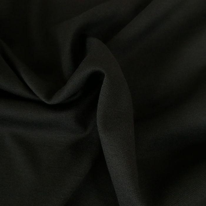 Tissu jersey punto stretch - noir x 10 cm