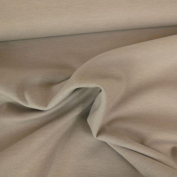Tissu punto stretch - sable clair x 10 cm