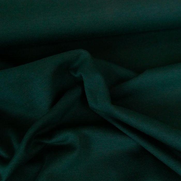 Tissu punto stretch - vert bouteille x 10 cm