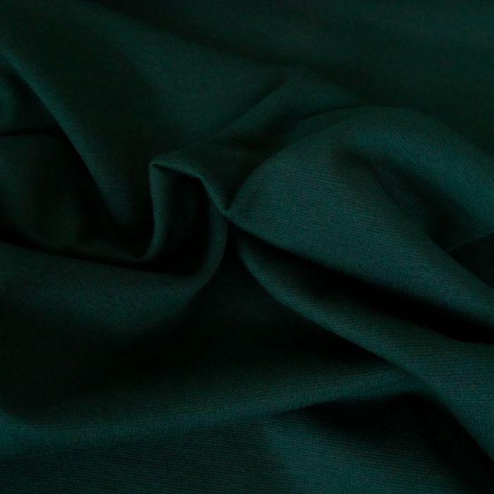 Tissu jersey punto stretch - vert bouteille x 10 cm