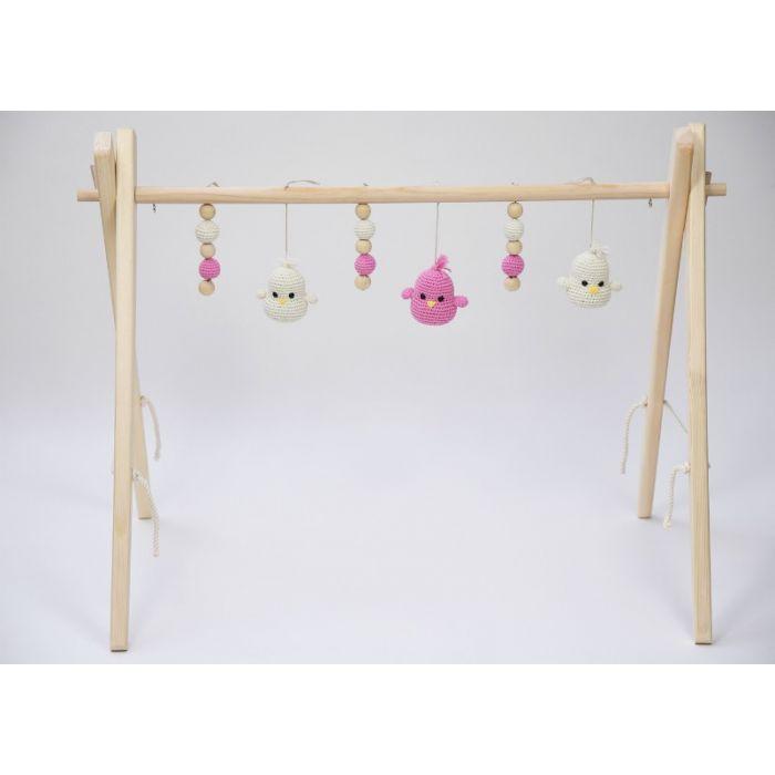Portique d'éveil en bois pour bébé