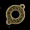 Breloque intercalaire motif anneau 21mm bronze