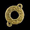 Breloque intercalaire motif anneau 21mm dor
